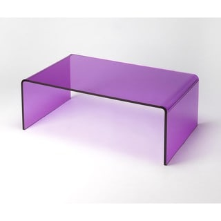 Butler Crystal 3398339 Purple Acrylic Cocktail Table