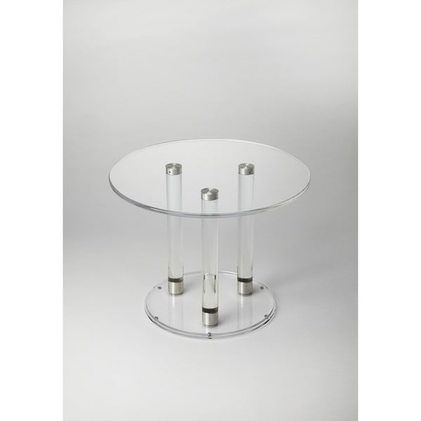 Handmade Butler Landis Clear Acrylic Bunching Round Cocktail Table (Taiwan)