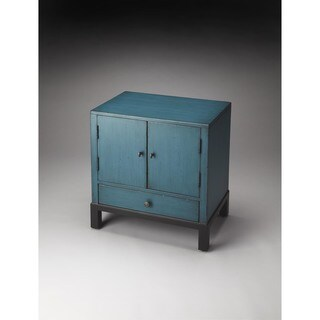 Butler Courtland 7008331 Distressed Blue MDF 24-inch x 16-inch x 27.25-inch Accent Cabinet