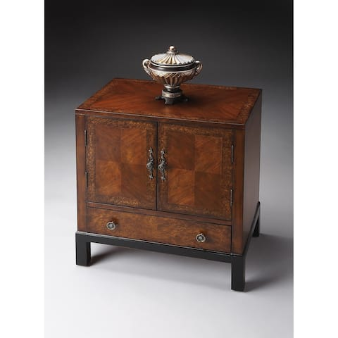 Handmade Butler Courtland Cherry and Olive Ash Burl Veneer Accent Cabinet (China)