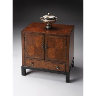 Butler Courtland Cherry and Olive Ash Burl Veneer Accent Cabinet