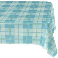 """Ottohome Plaid Vinyl 55-inch x 102-inch Indoor/Outdoor Tablecloth with Non-woven Backing - 55"""" x 102"""""""
