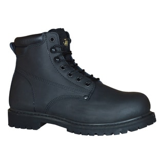 Golden Retriever Black Men's Work Boot