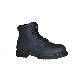 Golden Retriever Men's Black Rubber/Leather Steel-toe Safety Work Boot