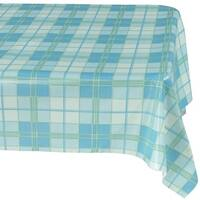 """Ottohome Vinyl Plaid Design 55-inch x 70-inch Indoor/Outdoor Tablecloth With Non-woven Backing - 55"""" x 70"""""""