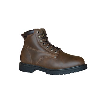 Golden Retriever Footwear Men's Brown Leather and Rubber Lug Sole Work Boot