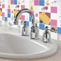 Disney 11.75x11.75-inch Pooh and Friends Pink Glass Mosaic Wall Tile