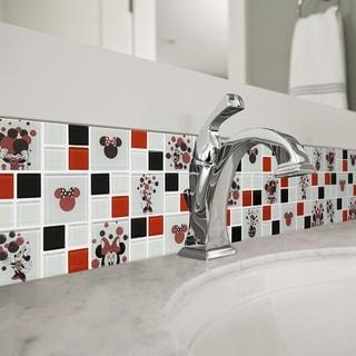 Disney 11.75x11.75-inch Minnie Red Glass Mosaic Wall Tile