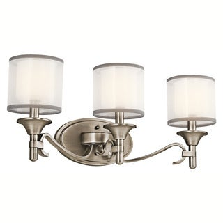 Kichler Lighting Tully Collection 3-light Antique Pewter Bath/Vanity Light
