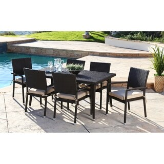 ABBYSON LIVING Harlan 7-piece Outdoor Dining Set with Cushions