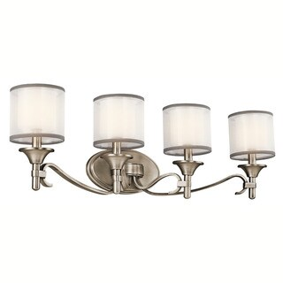 Kichler Lighting Tully Collection 4-light Antique Pewter Bath/Vanity Light