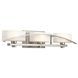 Kichler Lighting Suspension Collection 3-light Brushed Nickel Bath/Vanity Light