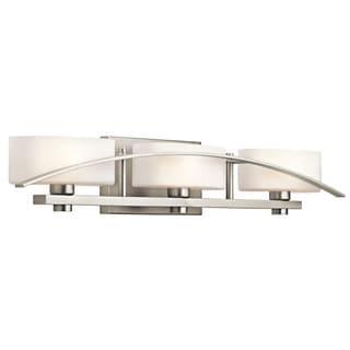 Kichler Lighting Suspension Collection 3-light Brushed Nickel Bath/Vanity Light