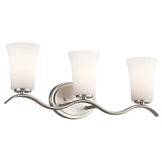 Kichler Lighting Armida Collection 3-light Brushed Nickel Bath/Vanity Light