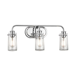 Kichler Lighting Braelyn Collection 3-light Chrome Bath/Vanity Light