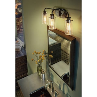 Kichler Lighting Braelyn Collection 3-light Olde Bronze Bath/Vanity Light