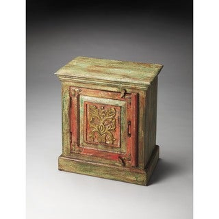 Butler Jaljira Hand Painted Brown/Green Accent Cabinet