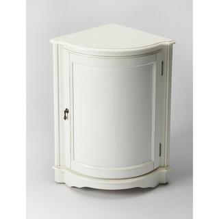 Butler Durham Cottage White Corner Cabinet