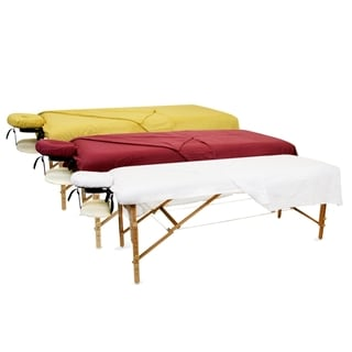 BodyChoice 3-piece Massage Table Natural Flannel Sheet Set