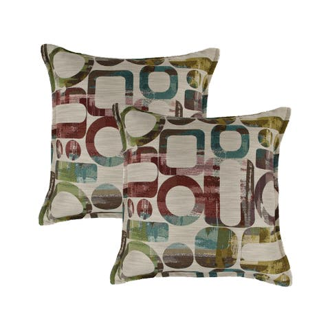 Sherry Kline Metropolis 20-inch Reversible Decorative Throw Pillow (set of 2)