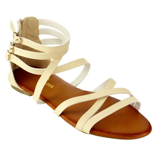 0c343959b3a Shop Spirit Moda Women s Flat Sandals - Free Shipping On Orders Over ...