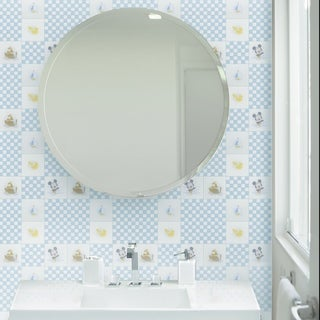 Disney 11.75x11.75-inch Baby Blue Glass Mosaic Wall Tile