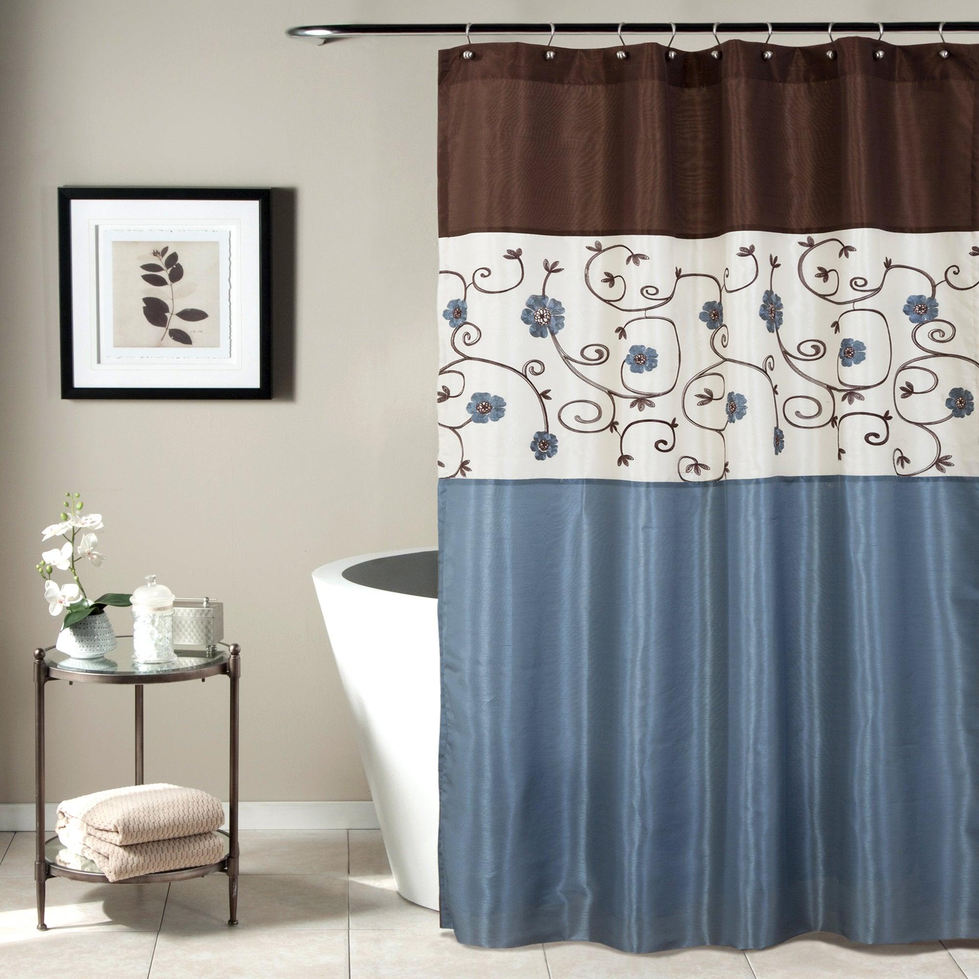 Lush Decor Royal Garden Shower Curtain