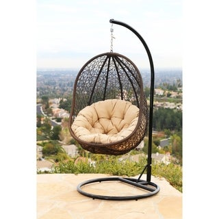 Abbyson Milania Outdoor Wicker Swing Chair