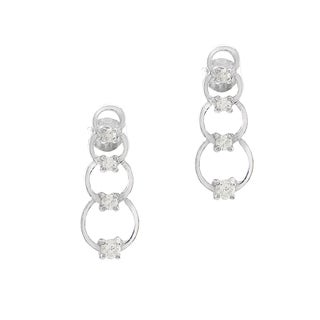 Toulon Sterling Silver Linked Circle earrings