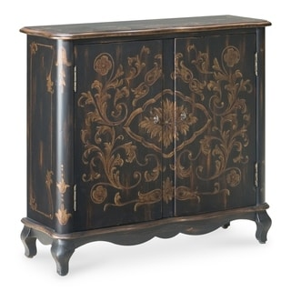 Butler Leyden European Black Painted Console Cabinet