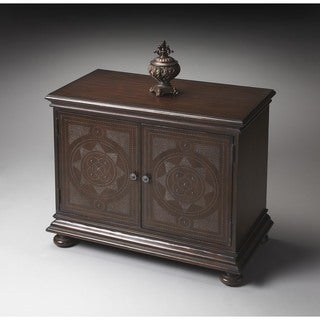 Butler Tarot Brown Veneer Wood MDF 36-inch x 19-inch x 30-inch Traditional Console Cabinet