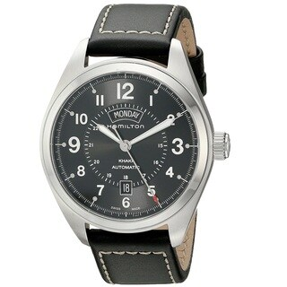 Hamilton Men's H70505733 Khakhi Field Black Watch