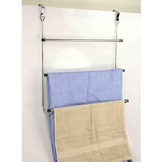 Home Basics 3-Tier Over-The-Door Towel Rack