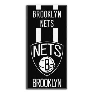 NBA 620 Brooklyn Nets Zone Read Beach Towel