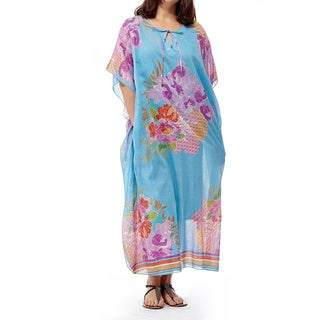 La Cera Women's Printed Long Caftan