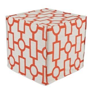 Ellington Mandarin Foam 17-inch Square Seamed Ottoman