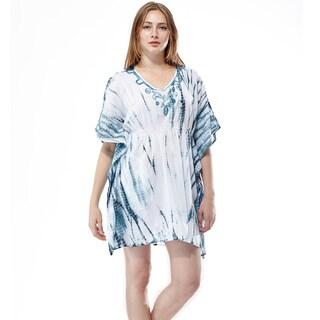 La Cera Women's Tye-dyed Kimono Top