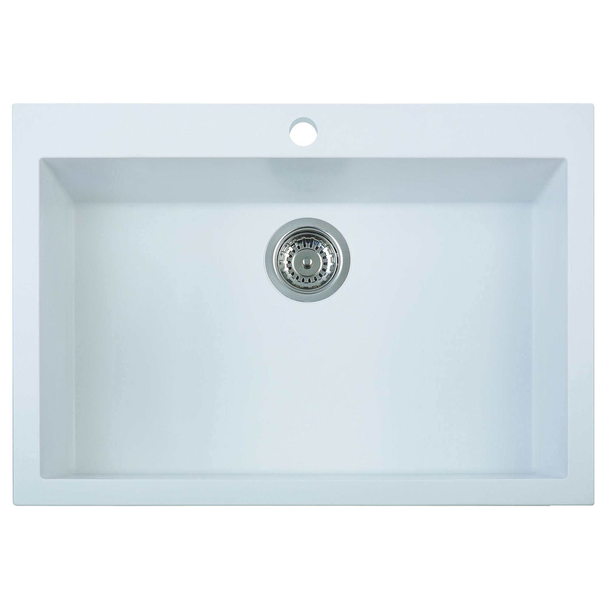 Picture of: Alfi Brand Ab3020di W White 30 Inch Drop In Single Bowl Granite Composite Kitchen Sink Overstock 12074983