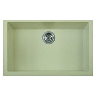 ALFI brand AB3020UM-B Biscuit 30-inch Undermount Single Bowl Granite Composite Kitchen Sink
