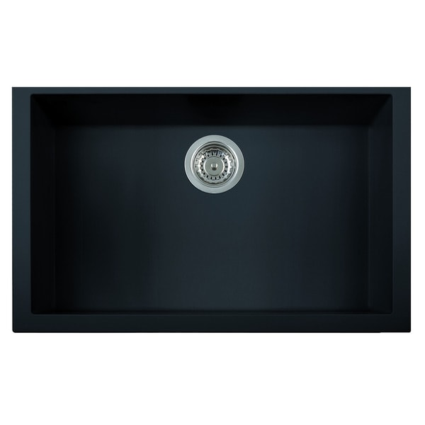 Shop Alfi Black Granite Composite 30 Inch Undermount