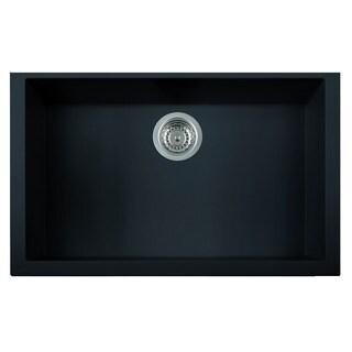 Alfi Black Granite Composite 30-inch Undermount Single-bowl Kitchen Sink