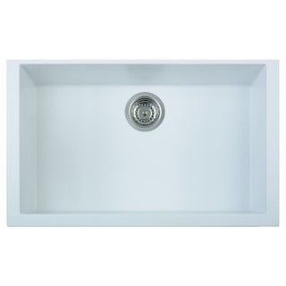Alfi White Granite Composite 30-inch Undermount Single Bowl Kitchen Sink