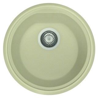 Alfi Granite 17-inch Drop-in Round Composite Kitchen Prep Sink