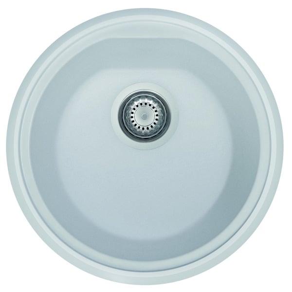 Shop Alfi AB1717UM-W White Granite Composite 17-inch Undermount ...