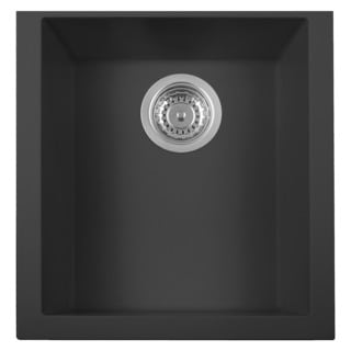 Alfi Black Granite Composite 17-inch Undermount Rectangular Kitchen Prep Sink