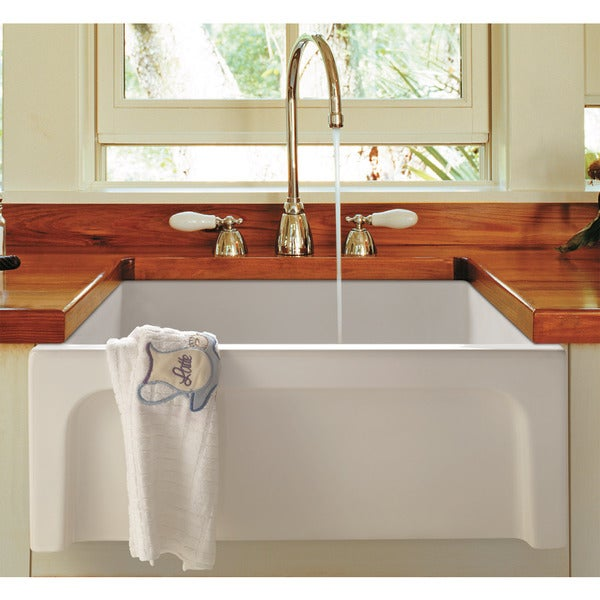 24 Inch Farmhouse Sink : ... 24-inch White Fireclay Arched Apron Thick-wall Single-bowl Farm Sink