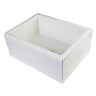 Alfi Fireclay 24-inch Biscuit Smooth Thick-wall Single Bowl Farm Sink