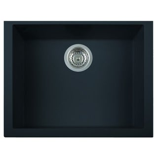 Alfi Black Granite Composite 24-inch Undermount Single Bowl Kitchen Sink
