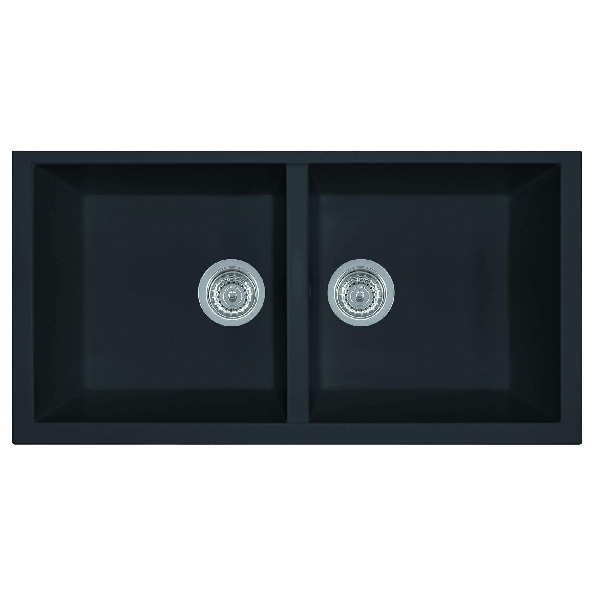 Alfi AB3420UM-BLA Black Granite Composite 34-inch Undermo...