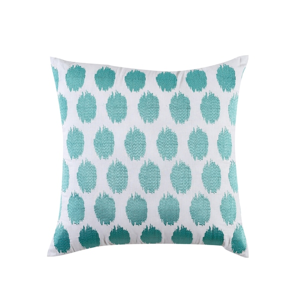 Fiesta Brand Bedding Ikat Turquoise/White Decorative Throw PIllow
